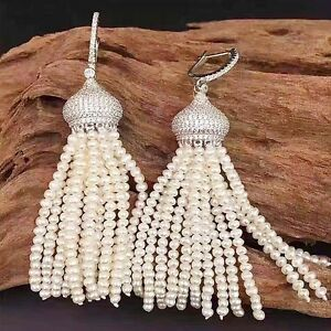 N1610095-natural-white-freshwater-pearl-earrings-CZ-Silver-plated-Leverback