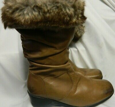 PAVERS Women Leather mid calf boot Size