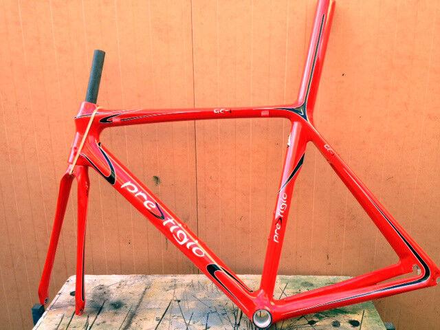 Telaio bici corsa carbonio Prestigio GE-1 road bike Carbon frame S L