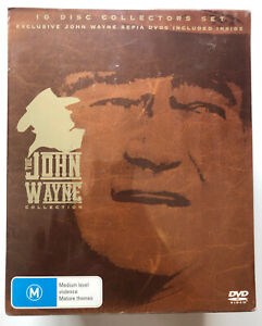 The-John-Wayne-Collection-Sepia-DVDs-DVD-10-disc-Region-4-NEW-SEALED-RARE