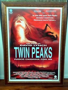 TWIN PEAKS FIRE WALK WITH ME GIANT ROME METRO POSTER IN MUSEUM FRAME DAVID LYNCH