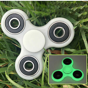 Glowing Hand Spinner Tri Fidget metal Ball Desk Focus Toy EDC For Kids/Adults