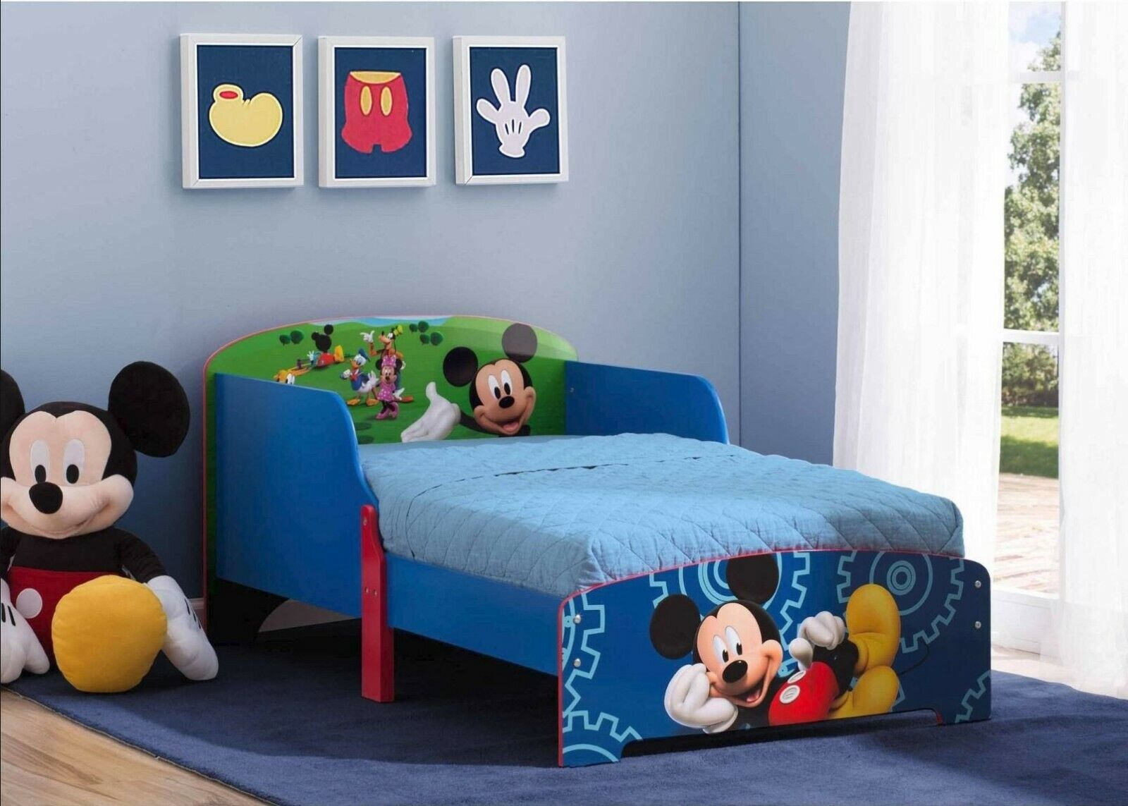Kids Disney Bed Wood Toddler Childs Bed Room Mickey Mouse Sleep