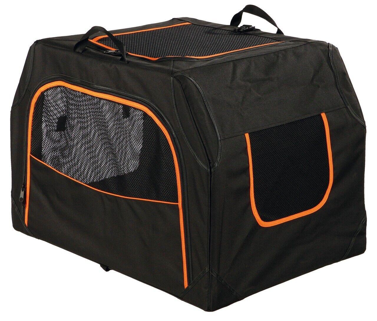 TRIXIE Transportbox Extend S - M 68 x 47 x 48 cm schwarz Orange