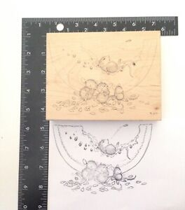 STAMPA-ROSA-Mellow-Melon-223-Wood-Mounted-Rubber-Stamp-1999-Mouse-Mice
