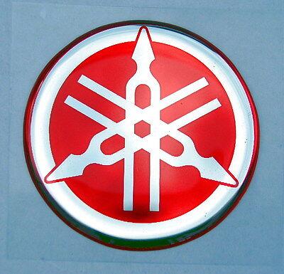2 X Originali Yamaha - 4cm-rosso-emblema Adesivi-munita Hemm Pittura - - ümberpöördult-decal - 40mm-logo-fkleber-emblema-embleem-decal-40mm-logo It-it Pregevole Fattura