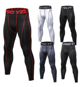 Men/'s Athletic Compression Pants Printed Gym Basketball Training Gym Long Tights