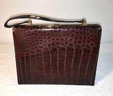 Vintage 1950's Escort Alligator Handbag Purse
