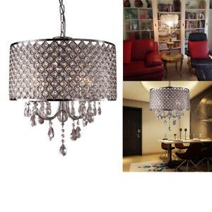 Details zu E14 Kristall Retro LED Lampenschirm Kronleuchter Hängelampe  Deckenlampe Lüster