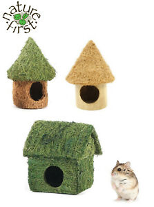 NEW-NATURE-FIRST-SMALL-ANIMAL-HAMSTER-MICE-TIKI-COCO-HUT-HOUSE-BAMBOO-HIDE