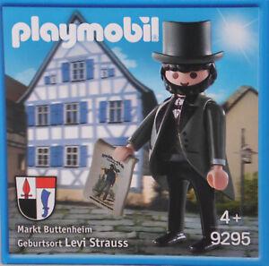 Playmobil-Promo-Sonderfigur-9295-Levi-Strauss-im-Frack-RAR-Limitiert-NEU-OVP-RAR