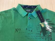 Polo Ralph Lauren Distressed Western Indian Polo Shirt Size XL Custom Fit NWT