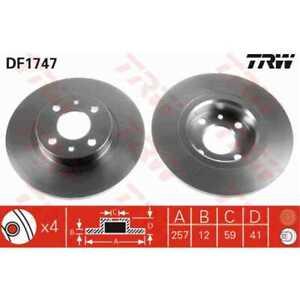 TRW-2x-Brake-Discs-Full-Painted-Black-DF1747