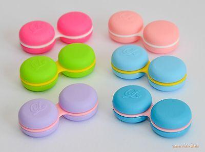 3 x Macaroon Range Fun Cute Contact Lens Storage / Soaking Case  Free PP