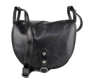 Dettagli su Borsa donna pelle tracolla a spalla nero piccola vera pelle borsa tracolla