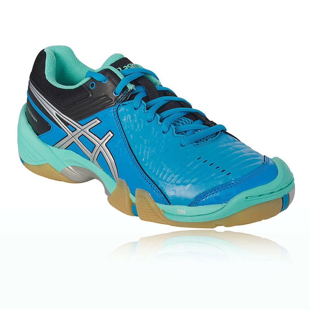 Asics Mens Gel Domain 3 Indoor Court Shoes Blue Sports Netball Handball