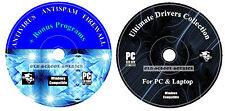 AntiVirus AntiSpy AntiSpam Firewall Laptop PC Cleaning Codecs + Drivers Recovery