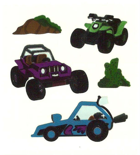 Sandylion Vintage Shiny Sand DUNE BUGGY Stickers 1 Square RETIRED