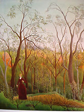 Rousseau: Spaziergang im Herbstwald; Kunstdruck 249 Kunstkreis Luzern 60x48cm