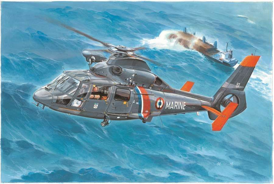 05106 Franch AS365N2 Dophin2 Helicopter Aircraft Trumpeter Plane Model 1 35 Kit