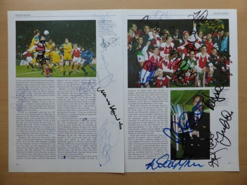 199394 Arsenal European Cup Winners Cup Multi Signed m Pages 10957