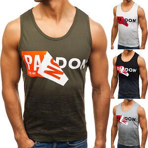 BOLF-Hombre-Camiseta-Tank-Top-Escote-Redondo-Impreso-Casual-Grafica-3C3-Motivo
