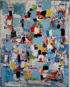 ALEXANDRE PONS/Abstrait contemporain  pièce unique grand format 92x73 cm