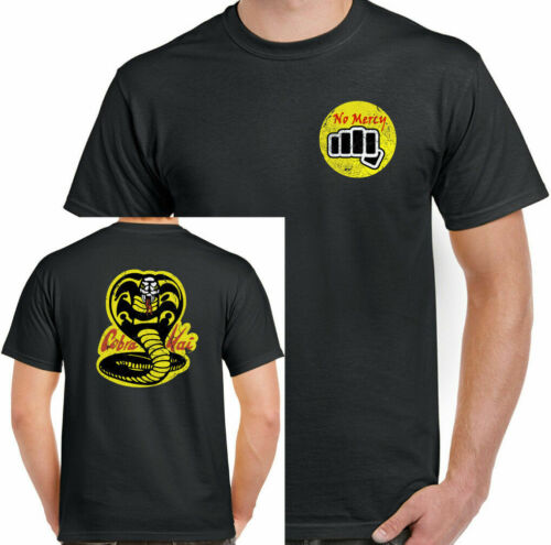 Cobra Kai T-Shirt No Mercy Karate Kid Mens Inspired Mr Miyagi Martial Arts Top