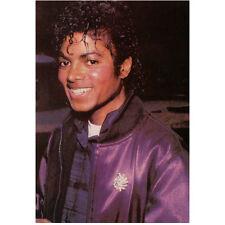 Michael Jackson Head Shot Wearing Jacket and Big Smile 8 x 10 Inch Photo