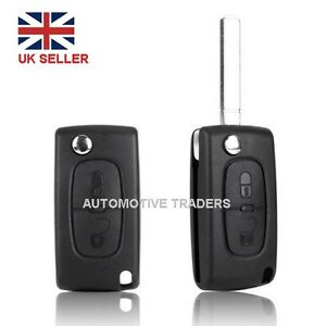 NEW-For-CITROEN-2-Button-Remote-Flip-Key-Case-Cover-C2-C3-C4-C5-C6-C8-LOGO-A28