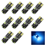 10x-Ice-Blue-Car-T10-W5W-Tail-Bulb-Clearance-Lamp-Error-Free-Canbus-6-3030-LED-Z miniature 1