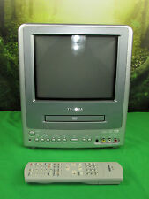 "Toshiba MD9DN1R 9"" CRT TV Television w/ Built-in DVD Player Combo AC DC +Remote"