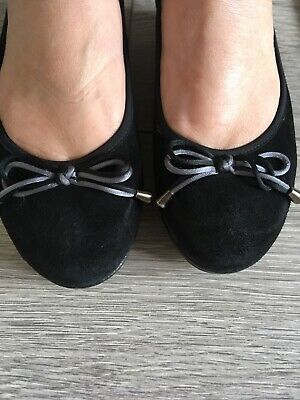 Riva Black Bow Square Front Ballet