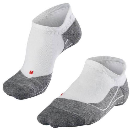 White Mix Falke Mens Running 4 Medium Invisible No Show Socks