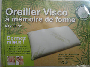 ... OREILLER VISCO A MEMOIRE DE FORME 40 X