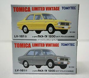 Tomytec Tomica Limited Vintage LV-161 Toyota Corolla 1200 2-Door Deluxe Vehicle