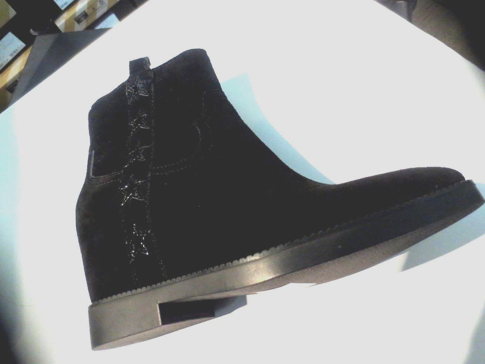 ASH Goldie Velours schwarz Keil 7cm Neu Wert 199E Schuhgrößen 36,39
