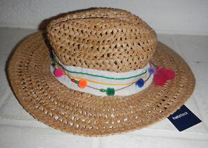 21eccc1e5e5 NWT Hatattack Hat Attack Cane Weave Woven Straw Rancher MSRP  82