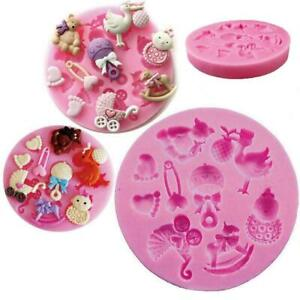 Baby-Toy-Silicone-Fondant-Cake-Mould-Mold-Chocolate-Sugarcraft-Baking-Tool-A4H6
