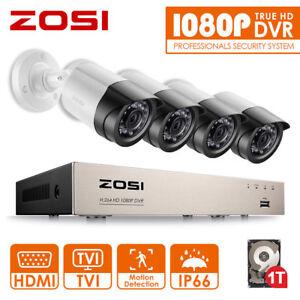 ZOSI-4CH-1080P-DVR-2MP-Aussen-IR-Uberwachungskamera-Set-Sicherheit-System-1TB-HDD