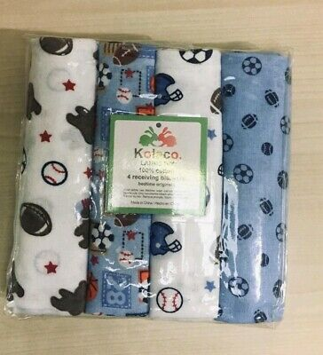 Cotton Flannel Unisex Colorful Cartoon Receiving Baby Blanket Soft Swaddle