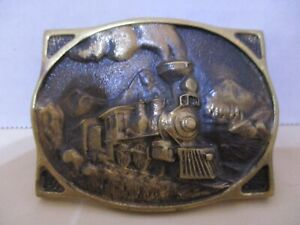 American-Train-Registered-Collection-Belt-Buckle-Solid-Brass-Y-8640