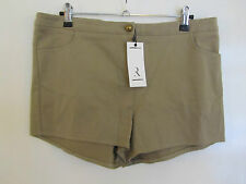 Beige - Brown Hot Pants / Shorts by Rare London in Size 12 - BNWT