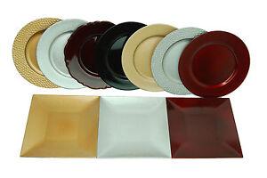 Cargador-De-Mantel-De-Cena-Inteligente-Decorativo-brunchfield-Placa-de-Oro-Plata-Rojo-Negro