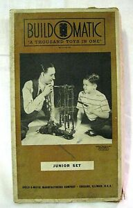 Build O Matic Junior Set 1946 Thousand Toys In One Building Set Buildomatic