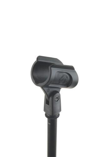 34 mm Kunststoff//schwarz K/&M 85070 Mikrofonklammer XL