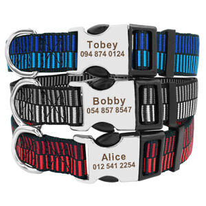 Small-Large-Personalised-Dog-Collars-Customized-Pet-Name-ID-Rottweiler-Boxer-S-L