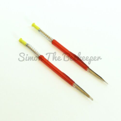 Beekeeping Chinese Queen Rearing Retractable End Grafting Tools x 25
