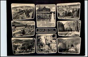 DDR-Postkarte-Thueringen-1961-OBERHOF-8-fach-s-w-Mehrbildkarte-gelaufen-AK
