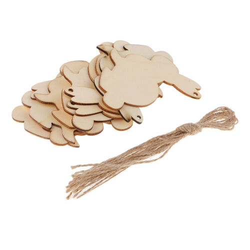 Wood Tag Wooden Animal Cutout Pieces Christmas Tree Table Wedding Decoration